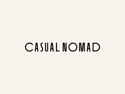 Casual Nomad Branding Identity / Logotype Wordmark minimal type typogaphy identity branding wordmark logo