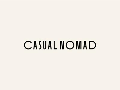 Casual Nomad Branding Identity / Logotype Wordmark