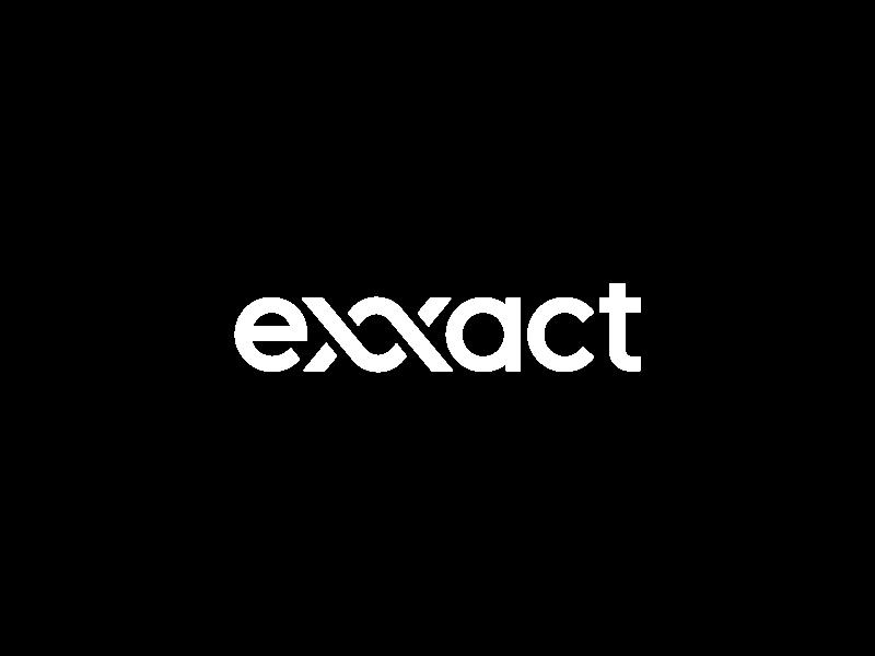 Exxact Logotype Wordmark letters type typography simple design wordmark logotype logo marketing ai