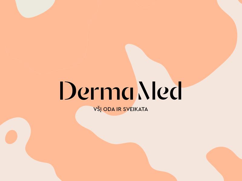 DermaMed Identity Design / Logotype Wordmark / Branding matisbranding agency curve type typography stencil minimal wordmark logo logotypewordmark med derma