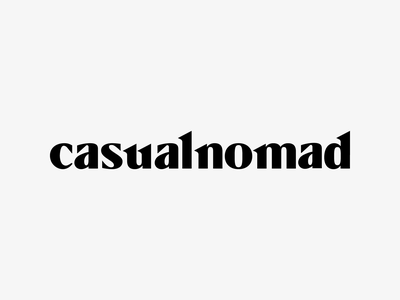 Casual Nomad Wordmark Logotype Design / Branding / Identity nomadic architecture minimal branding identity logotype logodesign logo wordmark casual nomad casualnomad