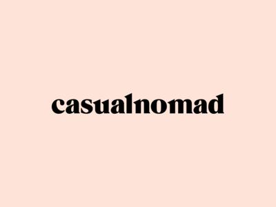 Casual Nomad Wordmark Logotype Design / Branding / Identity