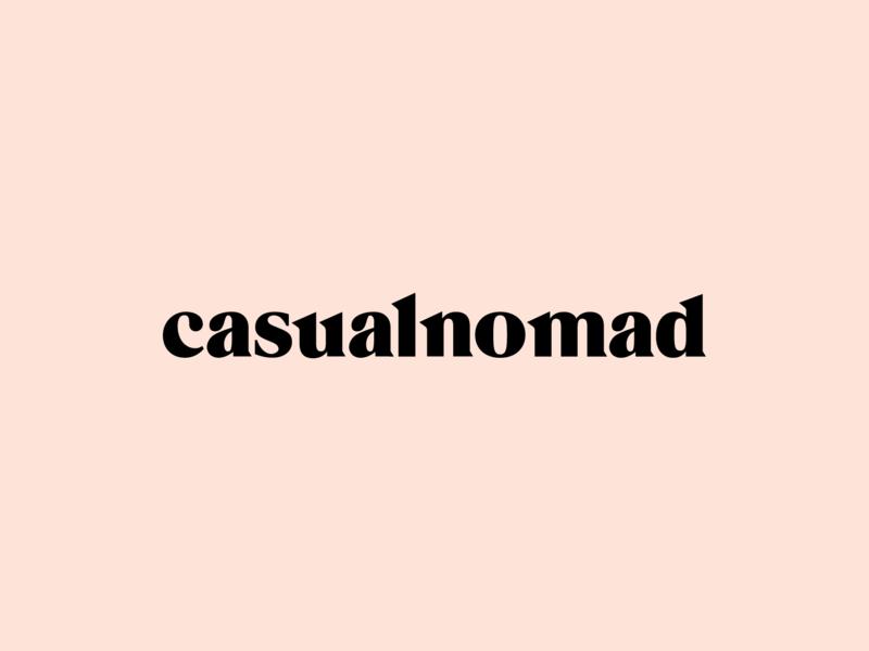 Casual Nomad Wordmark Logotype Design / Branding / Identity typography type timeless sharp minimal design logo logotype wordmark interior home travel nomad casual