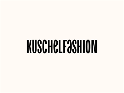Kuschelfashion Logotype Wordmark / WIP germany wordmark type typography design identity branding logotype logo bold fashion