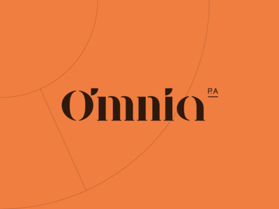 Omnia P.A. Virtual Assistant Logo Wordmark Design