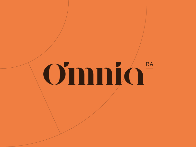 Omnia P.A. Virtual Assistant Logo Wordmark Design modern mark typography color wordmark logotype identitydesign identity branding business work management time logo virtual personal assistant