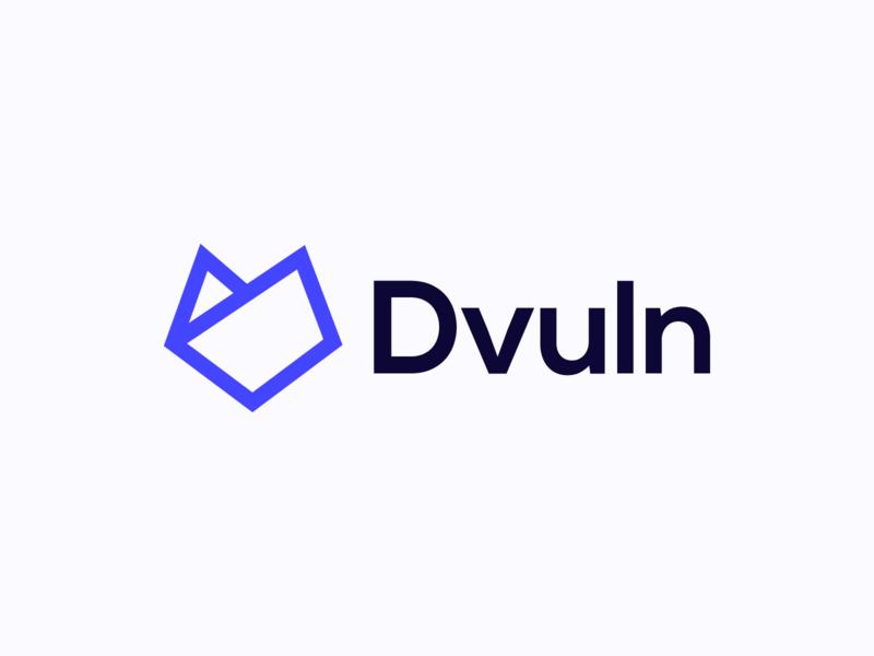 Dvuln Combination Logotype / Identity drawing strokes line head wolf minimal branding agency branding logotype logo identity design hacker security dvuln
