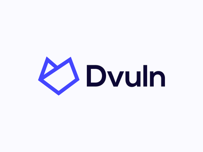 Dvuln Combination Logotype / Identity drawing strokes line head wolf minimal branding agency branding logotype logo identity design hacker security dvuln