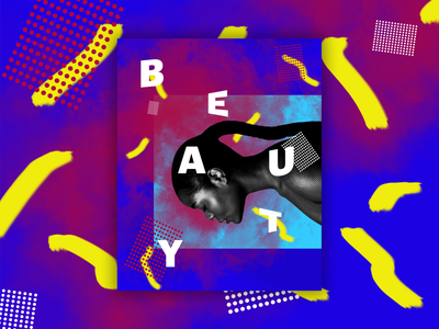 BEAUTY graphic graphic art grapic design abstract background abstract art abstract design abstract colors abstract lettering ui flat typography poster challenge poster art poster shape design logo illustration
