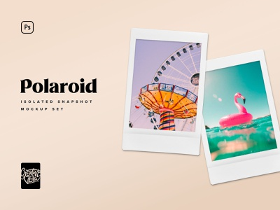 Polaroid Snapshot Picture Mockup Templates clipart isolated fujifilm snapshot polaroid frame image photo download photoshop mockup psd template mockup branding design veila