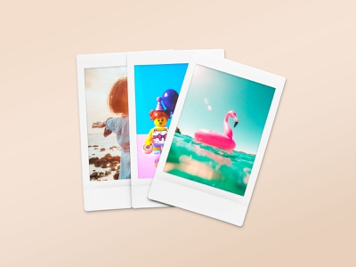 Polaroid Snapshot Picture Mockup Templates veila template snapshot polaroid photoshop photo psd mockup isolated image fujifilm frame download design clipart branding