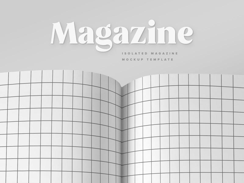 Minimalistic Magazine Spread Mockup veila spread photoshop template mockup magazine lifestyle glossy freebie free fashion download