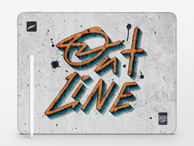 Outline Procreate Brushes concrete urban modern graffiti street art design procreate app lettering calligraphy typography ipad full access download brushes procreate veila