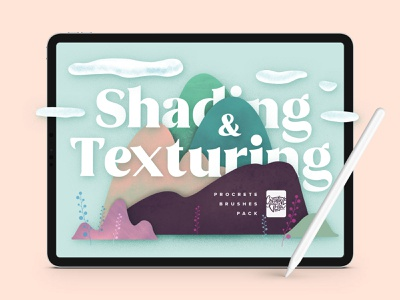 Natural Shading & Texture Procreate Brushes collage textures wall texture art procreate app applepencil ipad procreate brush set brush veila