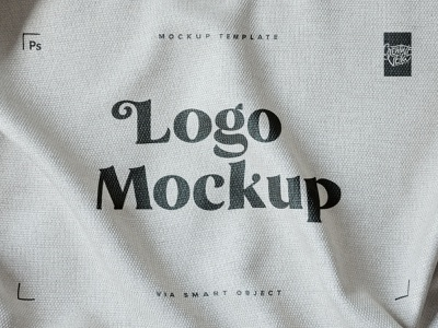 Free Fabric Print Logo Mockup download presentation fashion clothing apparel textile fabric effect print logo textures branding mockup design photoshop veila freebie free