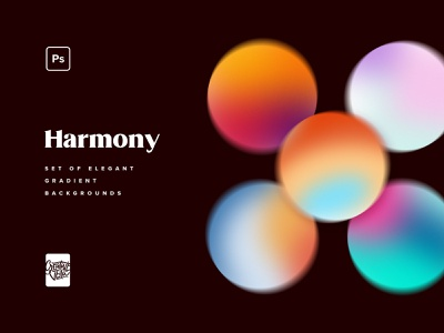 Harmony — Elegant Gradient Backgrounds wallpaper screensaver pink blue red overlay grain web noise vintage retro pale mesh background texture mockup gradient jpg psd veila