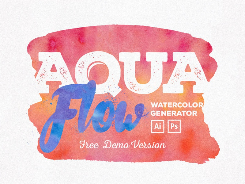 Aquaflow Toolkit Free Version font doodles vector toolkit textures photoshop pattern illustrator hand-drawn freebie free watercolor