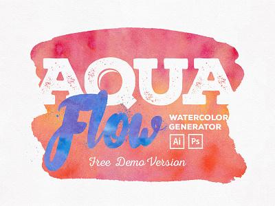 Aquaflow Toolkit Free Version font doodles vector toolkit textures photoshop pattern illustrator hand-drawn freebie free watercolor