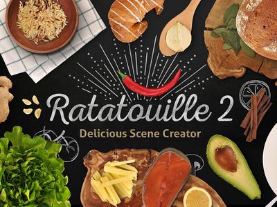 Ratatouille 2 Premiere! vector scene resolution mockup illustration high hero generator freebie free food creator