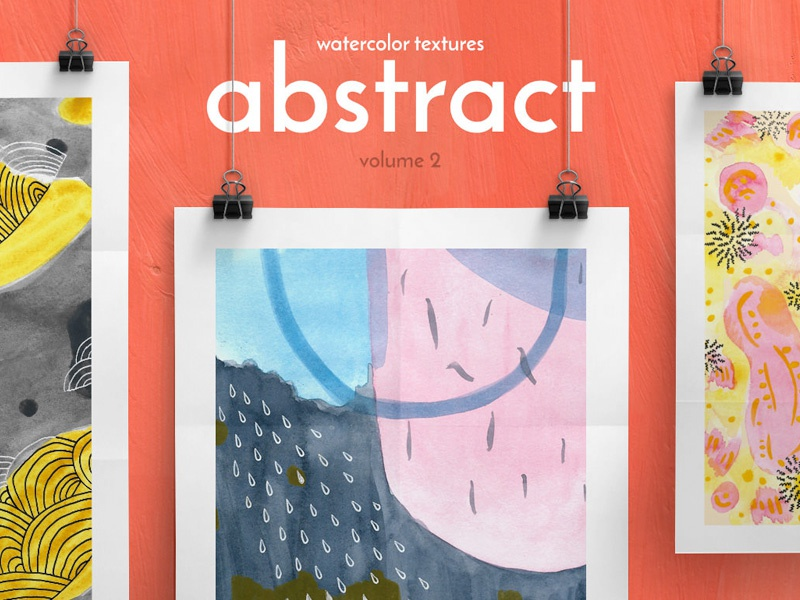 Download Free Abstract Watercolor Textures Vol. 2