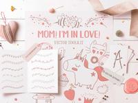 🐣 Mom! I'm in Love! Vector Set
