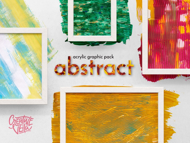 Download 🎨 Abstract Acrylic Graphic Pack