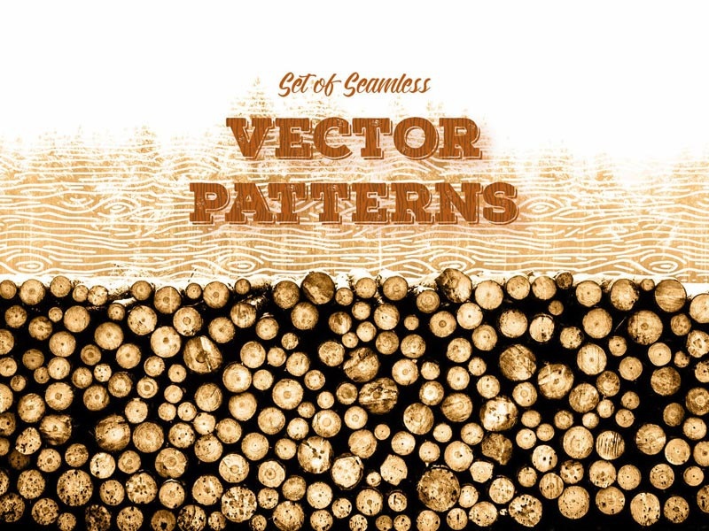 Seamless Wood 🌳 Patterns free freebie tree forest sketch poster stump vector wood pattern