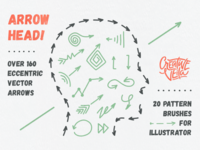 🏹 Arrow Head: Pattern Brushes & Vector Arrows