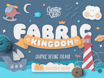 🏰 Fabric Kingdom for Illustrator effects illustrator style pattern brush seamless textures toolkit vector fabric generator scene
