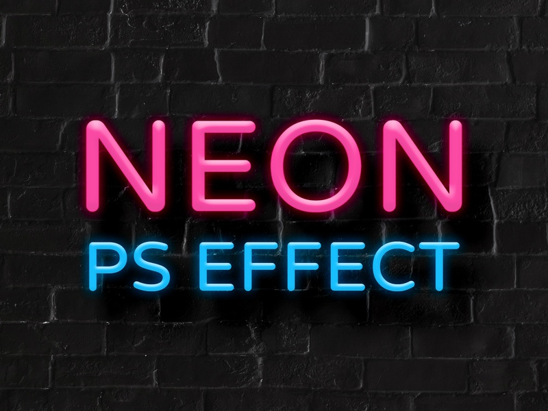 Neon Text Effect in Adobe Photoshop by CreativeVeila on Dribbble