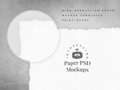 Free hand-made paper mockup set