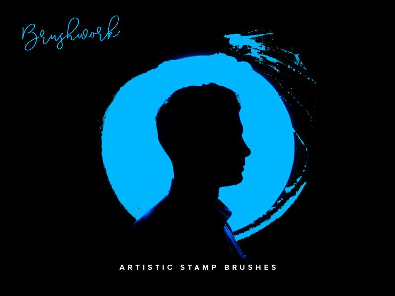 Blue Sun background artistic person portrait blue silhouette art scatter stamp brush photshop creative veila