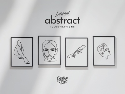 Free Lineart Abstract Vector Illustrations veila download portrait faces legs arms hands face one line art line designer affinity ai eps illustrator illustration vector freebie free