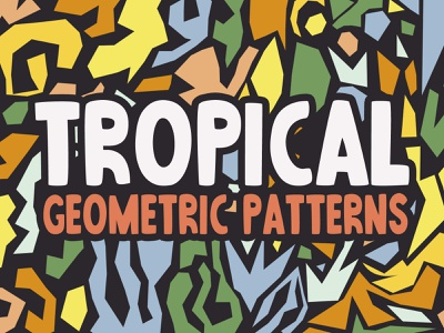 Free Abstract Tropical Patterns background tropical fruit water bird sand leaf abstract geometric tropical design veila textures illustrator seamless illustration pattern freebie free vector