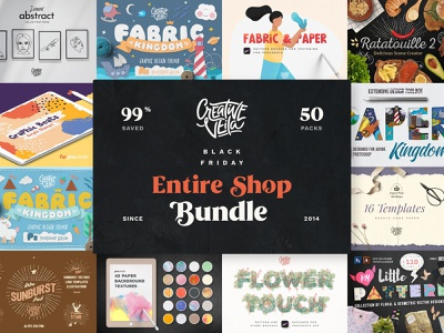 ⭐️ Black Friday Entire Shop Bundle is Here! black friday procreate brushes action effects fabric paper layer styles layer background brush photoshop watercolor textures seamless illustration illustrator veila creative vector