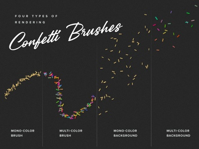 Confetti Procreate Brushes gold veila procreate party overlay metal glitter foil effect creative confetti brushset brush