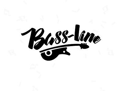 Bassline Logo identity illustrator design web minimal website flat typography illustration logo branding
