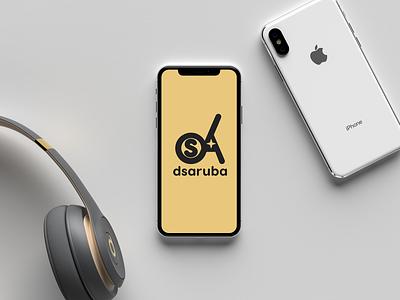 Dsaruba brand ux mobile clean website ui typography minimal illustrator identity flat design web logo illustration branding
