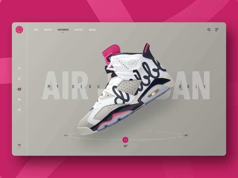 Hello Dribbble! user interface web design webdesign home page landingpage home air jordan nike sneaker shoes uidesign uxdesign ui ux  ui ux hellodribbble hello dribble debutshot debute debut