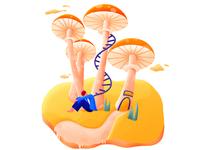 Boys under the Mushroom Room