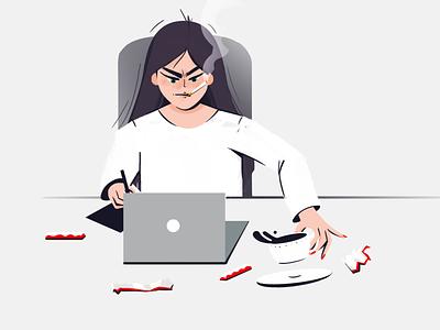 Deadline work deadline designers illustration character design