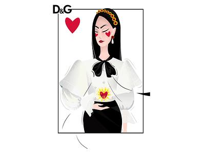 Dolce & Gabbana SS18 cards fashion brand dolcegabbana fashion illustration fashion illustration