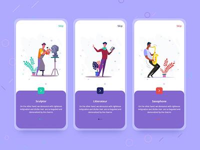 Learno-Onboarding Screen android illustrator minimal typography branding animation logo web landingpage app icon vector mobile app clean app landing illustration uiuxdesign uidesign clean design