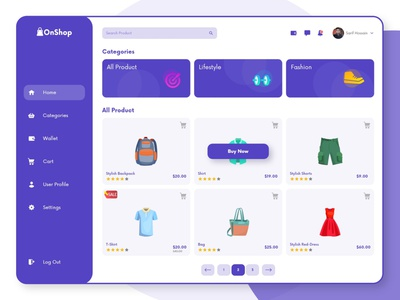 OnShop-Homepage Design dashboard app drawing online shopping marketplace woocommerce ecommerce dribbble vector branding dashboard design dashboard ui dashboard websight design landingpage uiuxdesign uidesign illustration clean