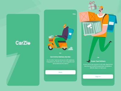 CarZio-Delivery Driver App graphicdesign designer app delivery gaming trend uxdesign uidesign 2020 2020 trend mobile app web websight design illustration clean app landing clean uiuxdesign