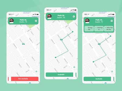 CarZio-Delivery Driver App Map 2021 2020trend 2020 minimal graphicdesign ux ui carzio driverapp realestate clean app landing uiuxdesign uidesign clean car