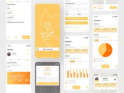 ToR-Driver App Concept driverapp appdesign 2022 2021 ui branding design clean app landing uiuxdesign uidesign clean