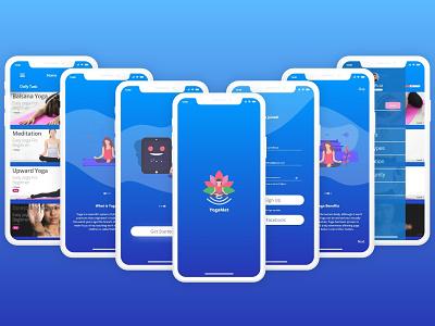 YogaMat typography ui clean uiuxdesign illustration mobile app landingpage design uidesign