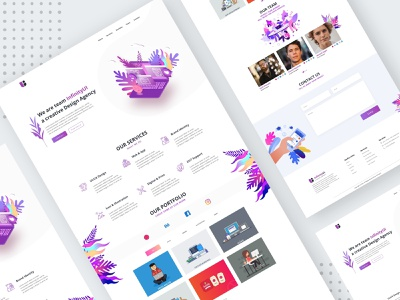InfinityUI - Design Agency Website Template Design websight design clean app landing web typography clean uiuxdesign landingpage uidesign illustration