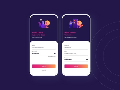 BitEx-Log In & Sign Up Screen logotype uiuxdesign design uidesign illustration ui love bitcoin cryptocurrency clean android ios mobile appscreen signup login